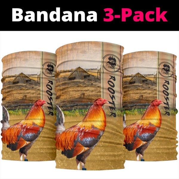 Rooster Bandana 3-Pack