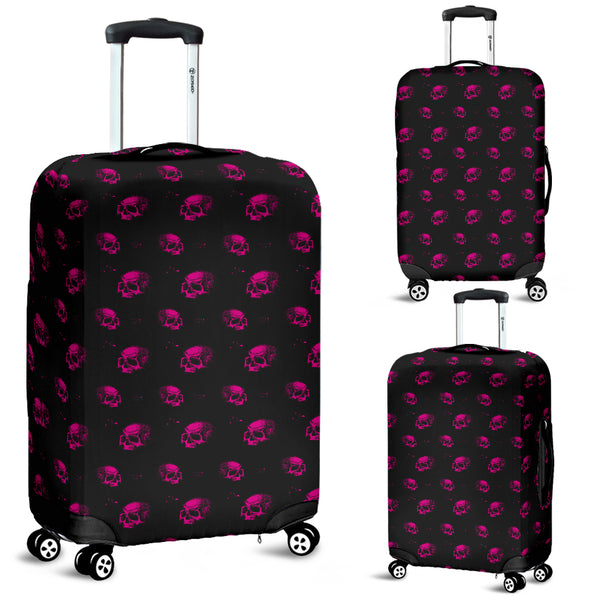 Washable Spandex Skull Print Luggage Cover 001 - designfullprint