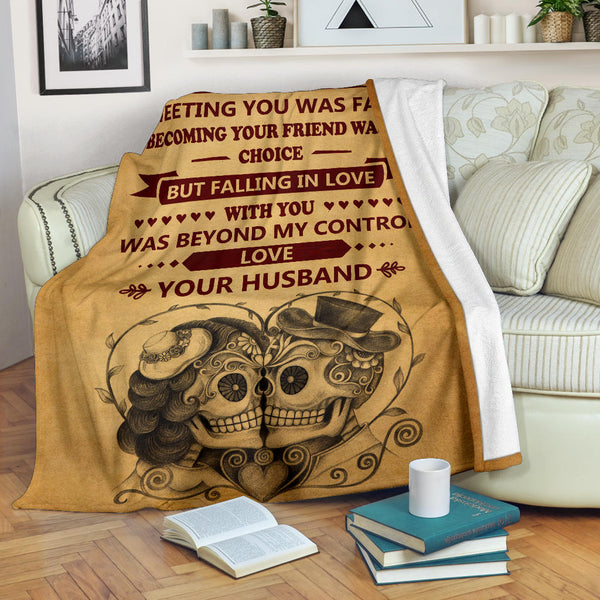 Lovers Vow Skull Blanket