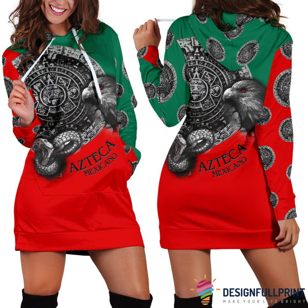 Mexican Patriotic Hoodie Dress 02 - designfullprint