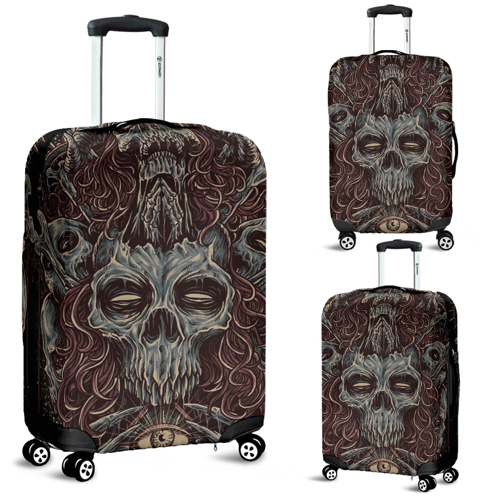 Skull 3D Art Luggage Cover 005