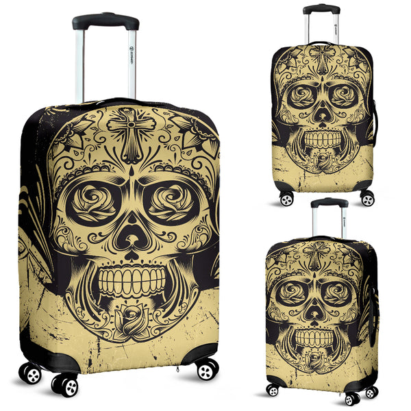 Skull 3D Art Luggage Cover 001 - designfullprint