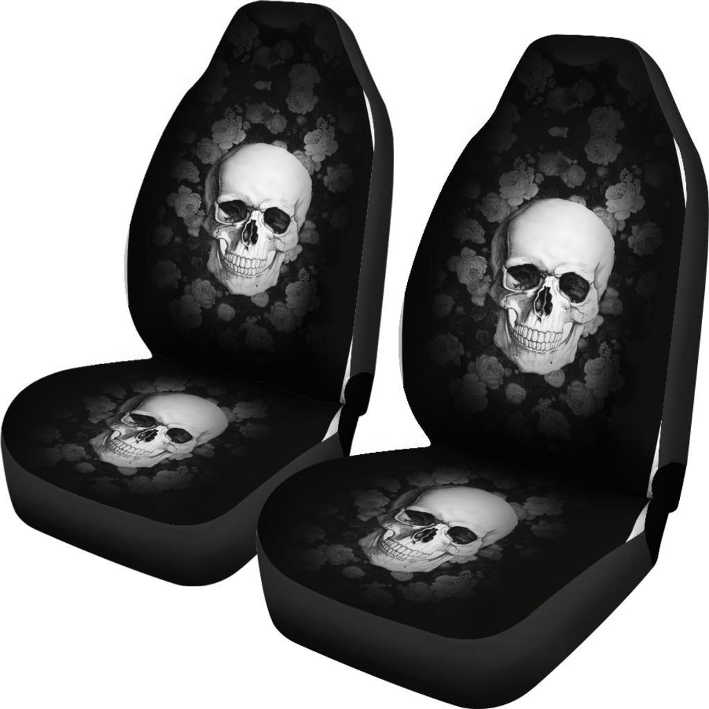 3D Skull Car Seat Covers 002 - designfullprint