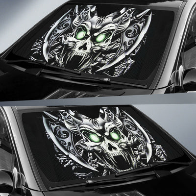 Black Mental Skull Sun Shades 002 - Universal Fit - designfullprint