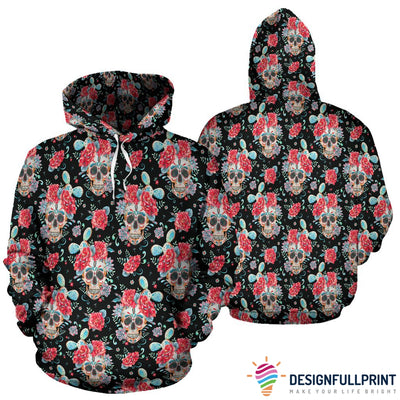 Red & Black Skull Hoodies - designfullprint