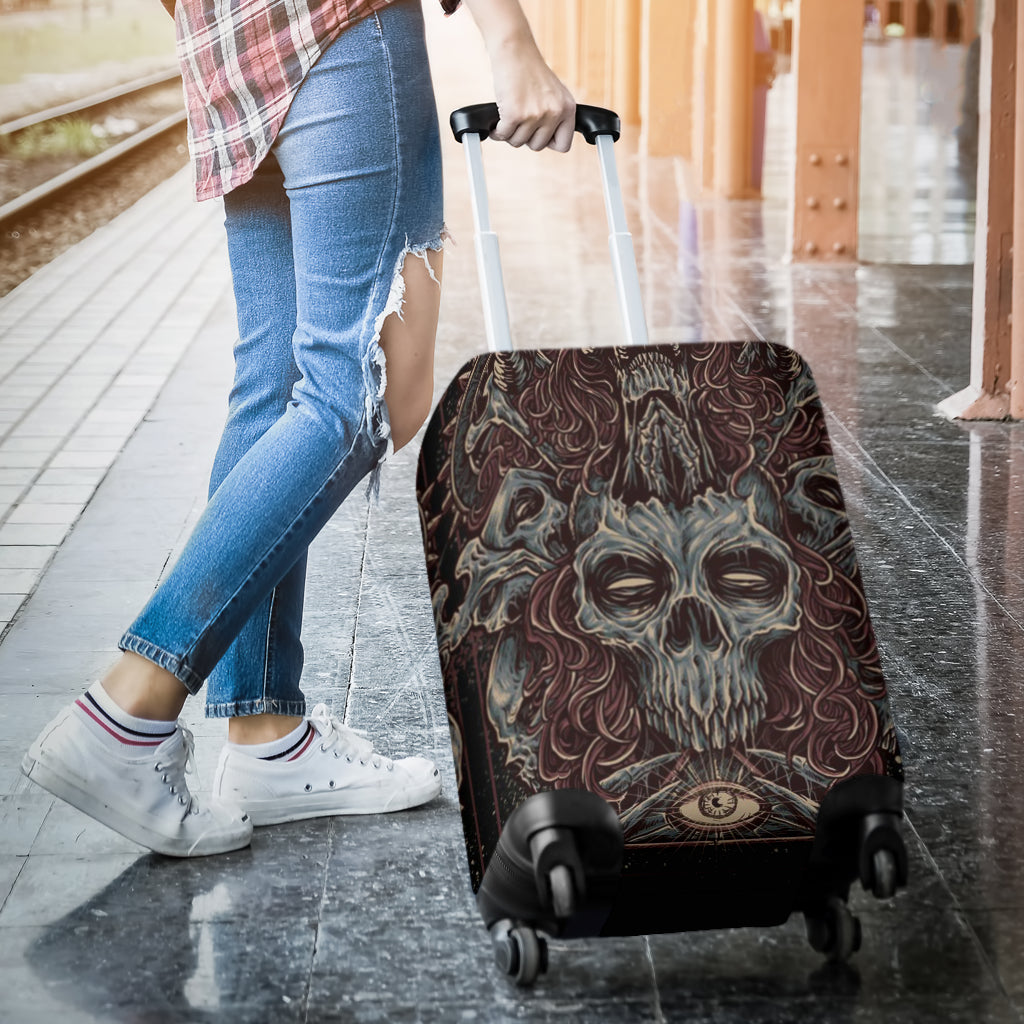 Skull 3D Art Luggage Cover 005 - designfullprint