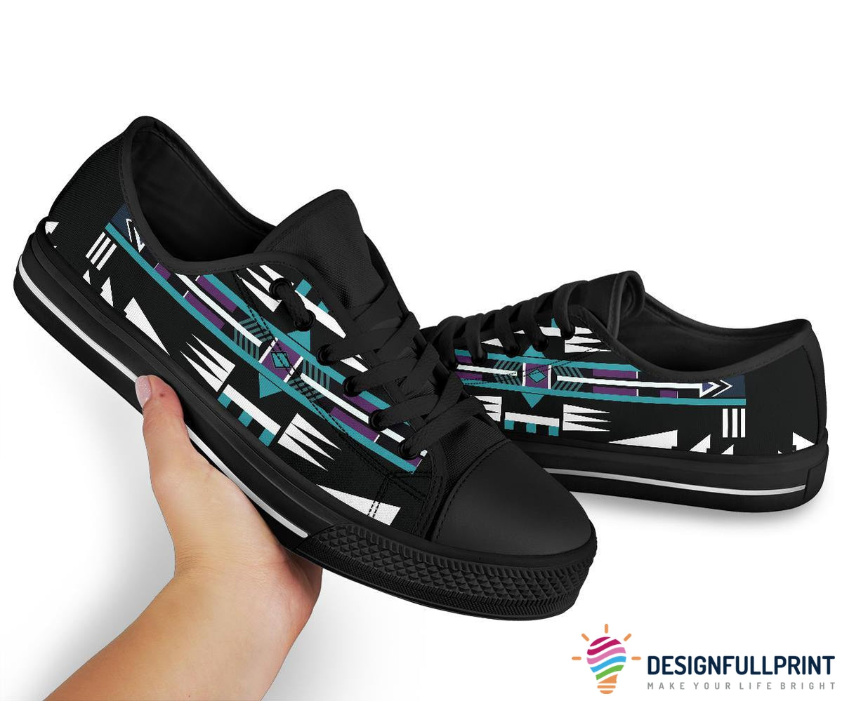 Women Black Native American Pattern Shoes