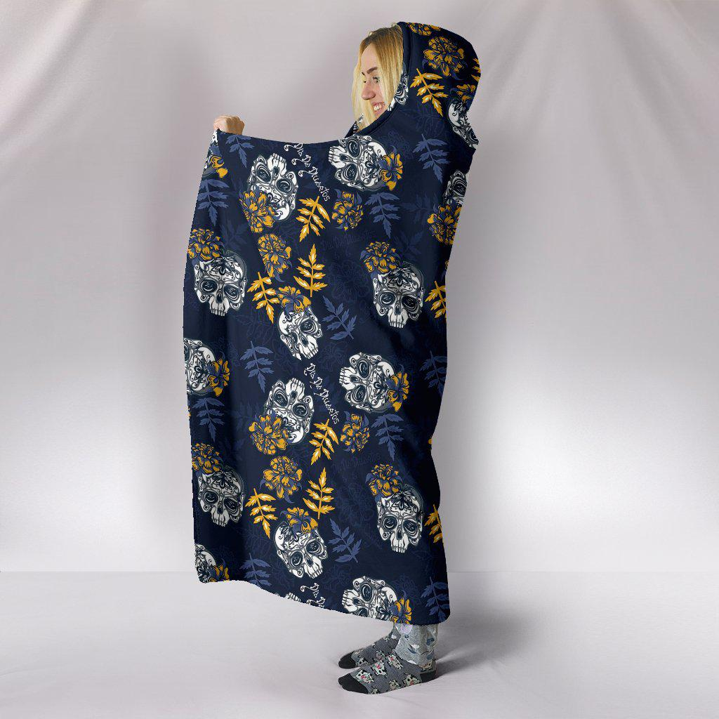 Ultra Soft Wool 3D Skull Hooded Blanket 007 - designfullprint