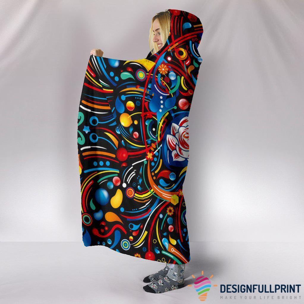 Ultra Soft Wool 3D Skull Hooded Blanket 008 - designfullprint