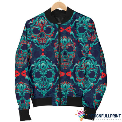 Skull Men's Bomber Jacket - designfullprint