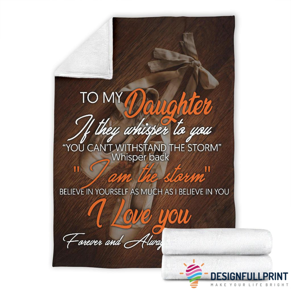 Ballet Dancer Mom To Daughter Premium Blanket