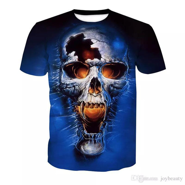 Men T-shirt Skull 3D Full Print