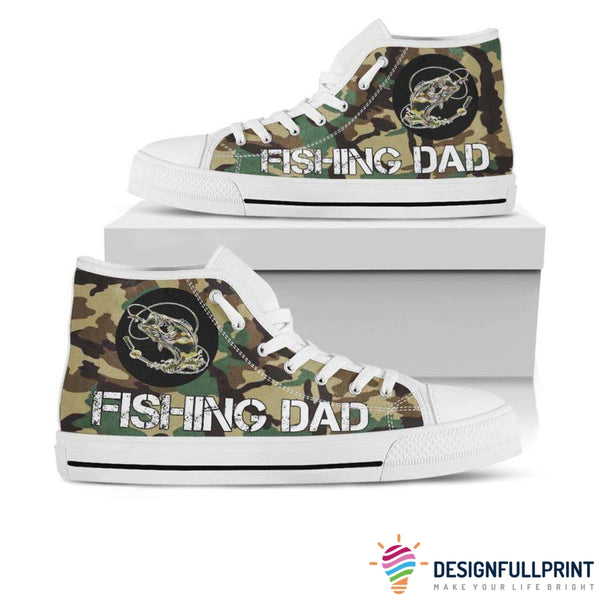 Fishing Dad Personalized High Top Canvas Shoes