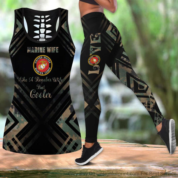 Marine Wife Tank Top And Legging Set
