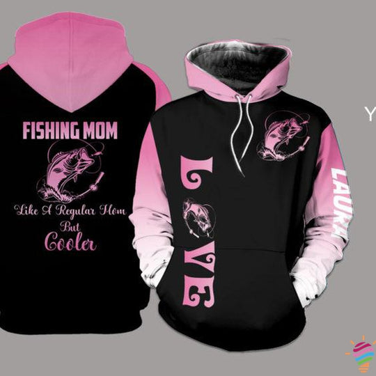 Fishing Mom Personalized US Unisex Size Hoodie