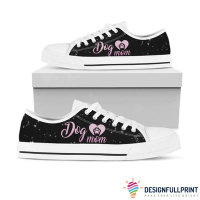 Dog Mom Personalized LowTop Canvas Shoes
