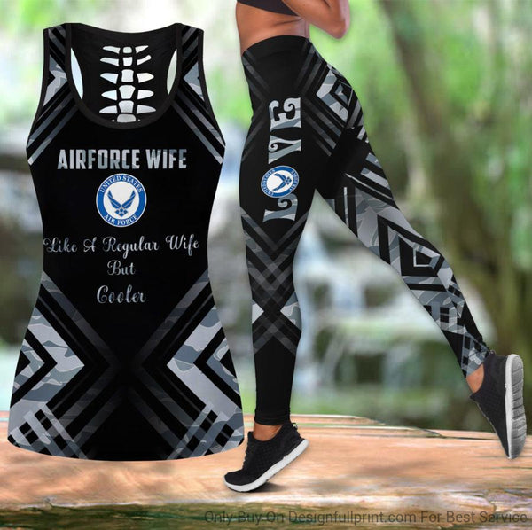 Airforce Wife Tank Top And Legging Set