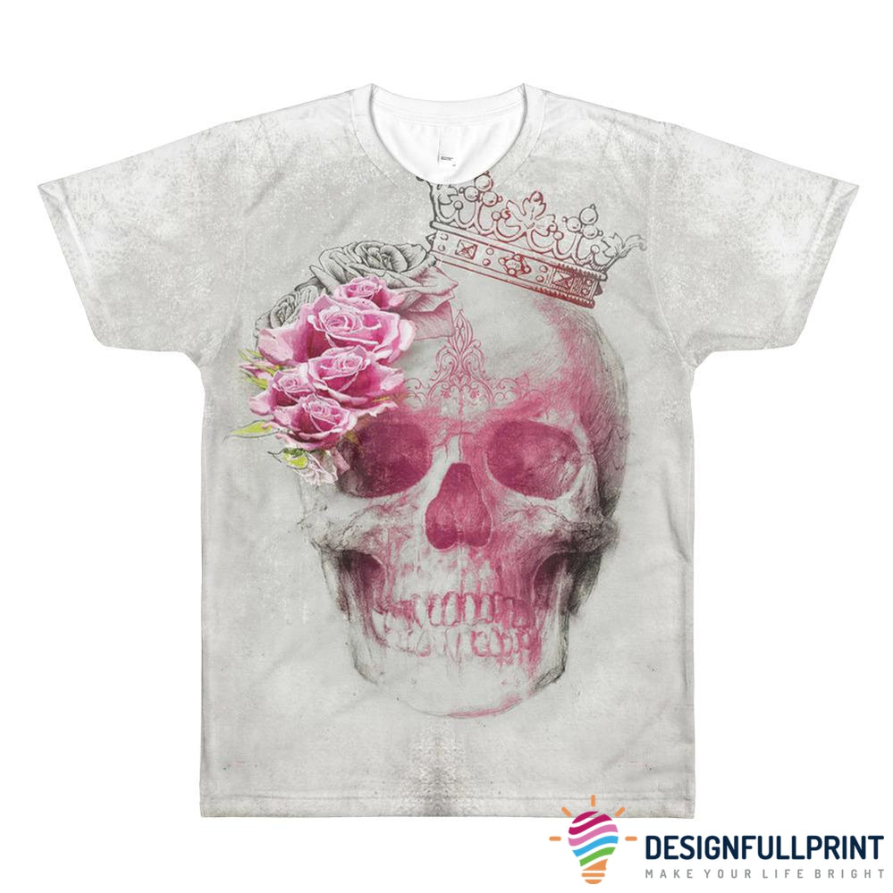 Skull Queen Rose All-Over Printed T-Shirt