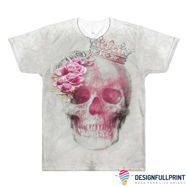 Skull Queen Rose All-Over Printed T-Shirt - designfullprint