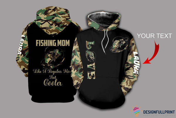 Fishing Mom Camo Personalized US Unisex Size Hoodie
