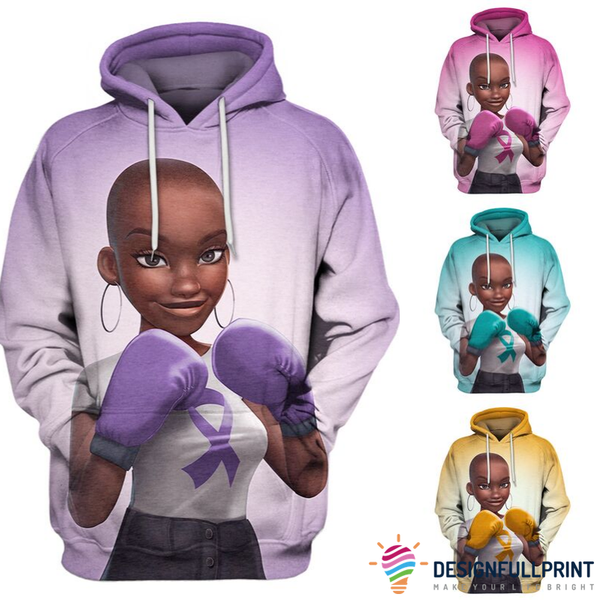 Multi-color Melanin Warrior Health Awareness Hoodie