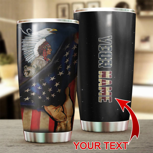 Native Flag Personalized Tumbler