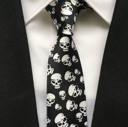Black Scary Skull Necktie