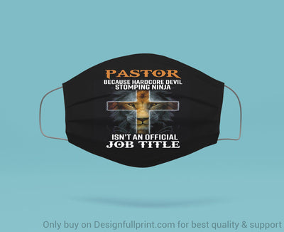 Pastor Because Hardcore Devil Stomping Ninja Is Not An Official Job Tittle Lion Mask 3-pack