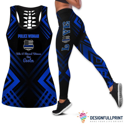 Police Woman Tank Top And Legging Set