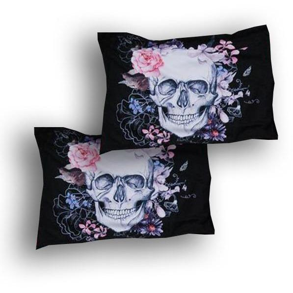 3D Skull Bedding - Extra Pillow cases - 2pcs