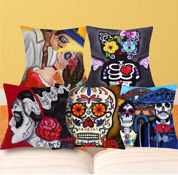 Sugar Skulls Cushion Covers - designfullprint