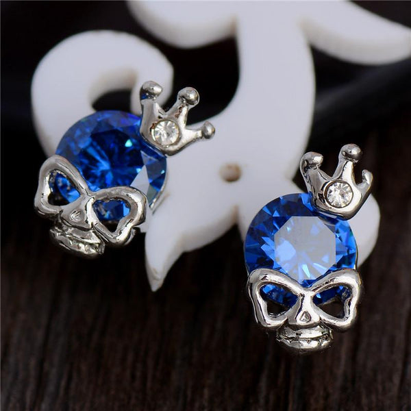 Skull Crown Stud Earrings
