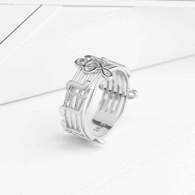 Musical Note Sterling Sliver Rings for Women - designfullprint