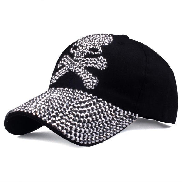 Baseball caps for women and men Casual Rhinestones Skull high quality