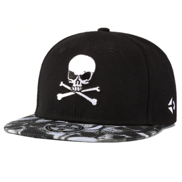 Hip Hop Hats Baseball Caps Snapback black Colors Cotton Bone European Style Classic Trend skull embroidery