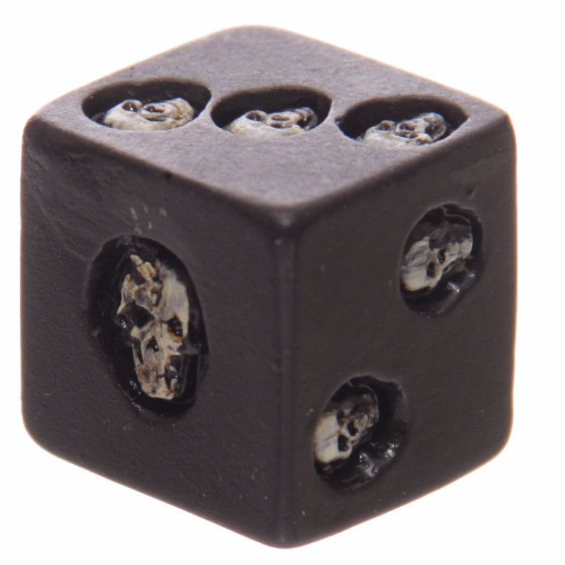 Set of 5 Nemesis Black Skull Dice - designfullprint