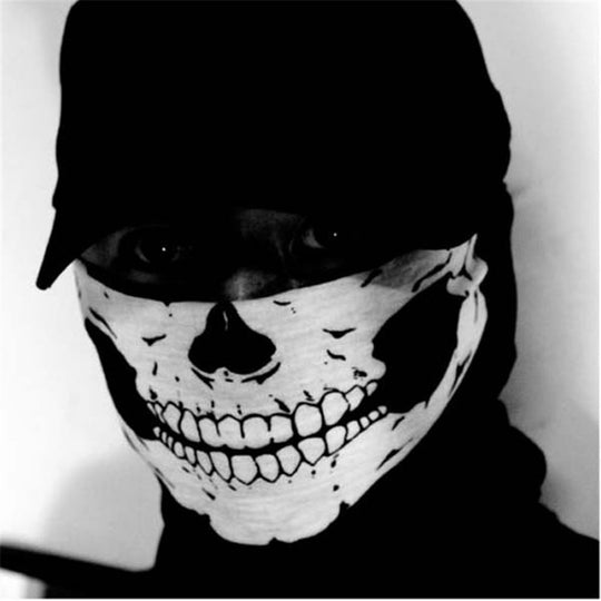 Cool Skull Design Multifunction Half Face Mask - Ski Sport Motorcycle Biker Scarf