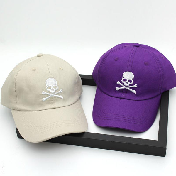 Skull Baseball Cap Embroidery Skull heads casual Snapback Hat Hip Hop