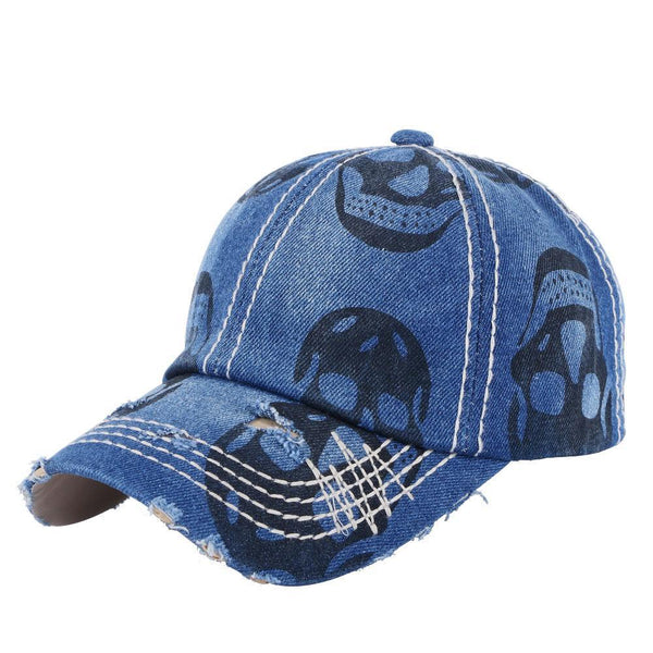 Baseball cap denim hats print skull style outdoor sports caps