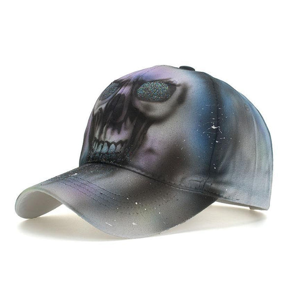 Skull Painting Men Women Baseball Cap Adjustable Casual Snapback