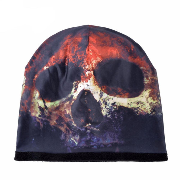 Beanie skull hats for women men print knitted warm cap unisex