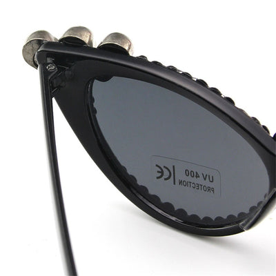 Rhinestone Cat Eye Skull Sunglasses for Woman - designfullprint