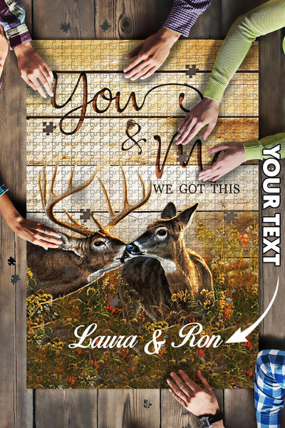 Personalized Deer We Got This Gift Big Jigsaw Puzzle