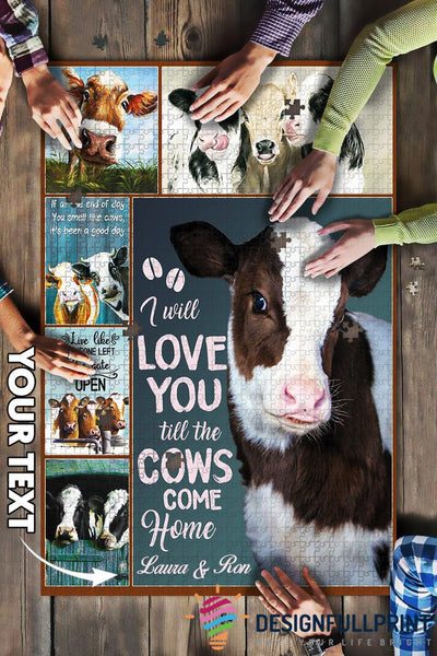 Love You Farmers Personalized Gift Big Puzzle