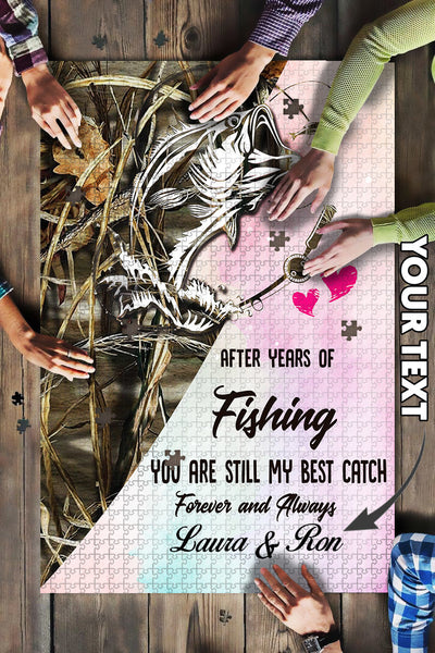 Fishing Couple Personalized Puzzle