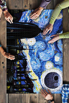 Death Star Starry Night Gift Big Puzzle