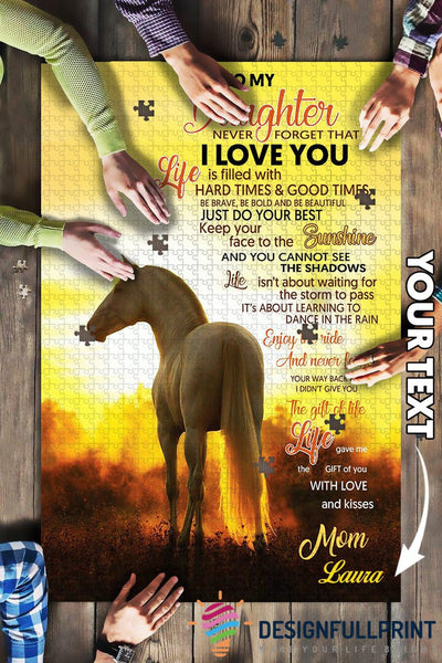 Horse Mom to Daughter Big Gift Jigsaw Puzzle