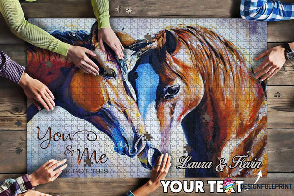 Horse Lovers Couple Big Gift Jigsaw Puzzle