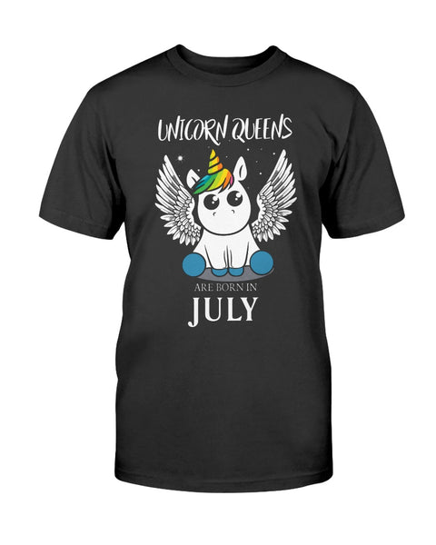 Unicorn Queens Are Born In July T-shirt