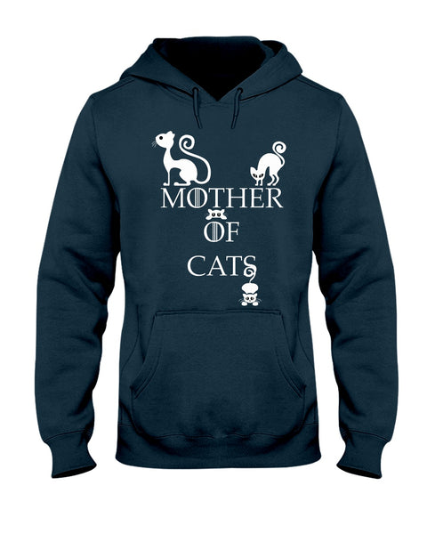 Mother Of Cats Cotton Hoodie
